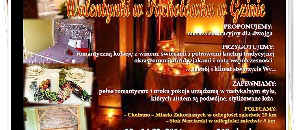 Walentynki w Pachotowku w agroturystyce w woj. Kujawsko-pomorskim